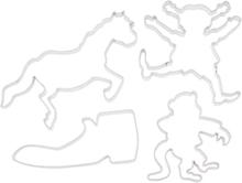 Bakformar 4 delar - Pippi Långstrump