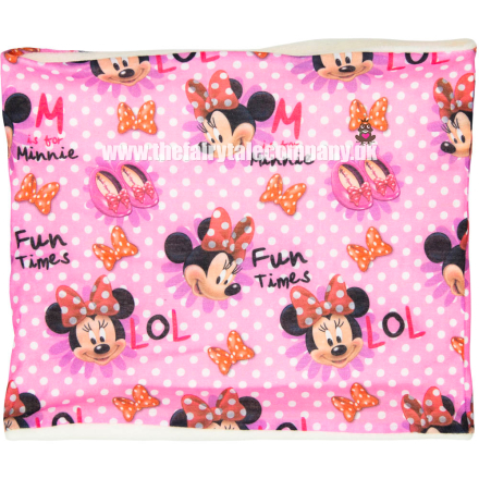 Minnie Mouse halsedisse, fuchsia, one size - TheFairytaleCompany