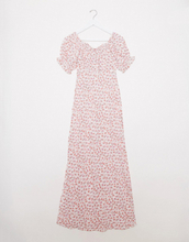 Only Petite milk maid maxi dress in pink ditsy floral-Multi