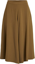 VILA Cropped Culotte Trousers Women Green