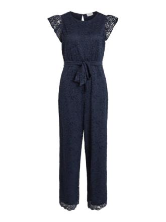 VILA Lace Jumpsuit Women Blue