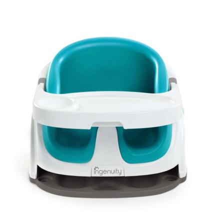 Ingenuity Baby Base 2-i-1 Barnesete påfuglblå K10865