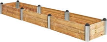 Plus Odlingslåda Pipe 400x80-Träfärgat
