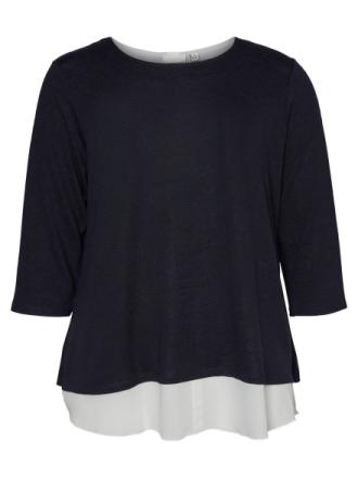 JUNAROSE Knitted Pullover Women Blue