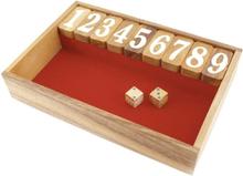 Shut the box - rød