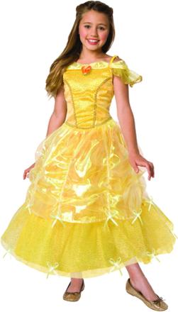 Gul balklänning - Prinsessdräkt för barn 0fe790f2ef101