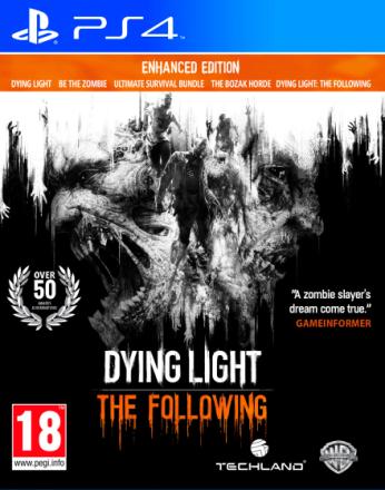 Dying Light The Following PS4 Enhanced Edition - Spill +tilleggspakker