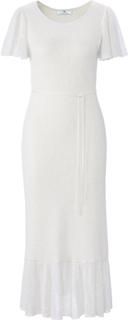 Kjole i blonde-look Fra Peter Hahn hvid