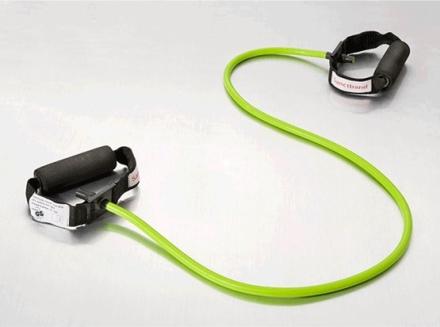 Sanctband Tubing with Handles Lime Green/Medium