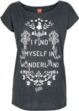 Alice in Wonderland - -T-skjorte - gråmelert