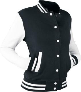 Urban Classics - 2-Tone College - Varsity-jacka - svart vit
