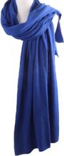 Kasjmier-blend sjaal/omslagdoek in blauw