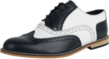 Steelground Shoes - Classic Brogue - Snörsko - svart