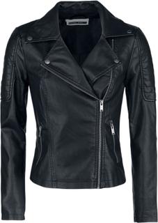 Noisy May - Rebel PU Jacket - Konstläderjacka - svart