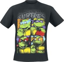 Teenage Mutant Ninja Turtles - Bright Graffiti -T-skjorte - svart