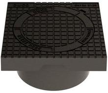 Duco fast karm m/deksel med lås til 315 mm oppføringsrør, 12,5 tonn - gråjern