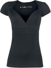 Fashion Victim - Fashion V-Top - T-shirt - svart