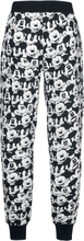 Mickey Mouse - Face -Pyjamasbukser - svart, hvit
