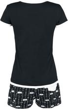 Batman - Bat-Logo -Pyjamas - svart, hvit