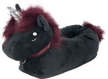 Unicorn - Corimori - Ruby Punk Unicorn - tofflor vuxen - Slipper - svart
