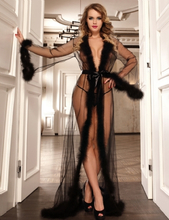 Sheer Sleepwear With Fur