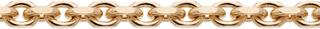Guldkedja Halsband 18K Flackslipad Ankarlänk 8×8 mm