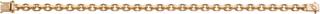 Guldkedja Armband 18K Flackslipad Ankarlänk 8×8 mm