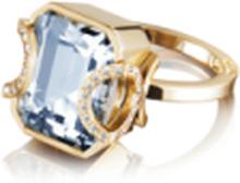 Efva Attling Little Magic Star Ring Aquamarine Guld