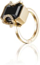 Efva Attling Little Magic Star Ring Onyx Guld