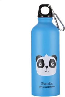 eStore Vandflaske Aluminium, Blå med Panda
