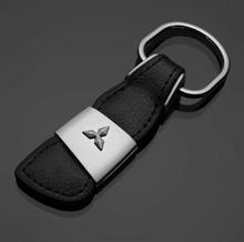 Äkta Läder Mitsubishi nyckelring