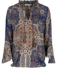 b690847e Blå Haust Collection Paisley Bluse