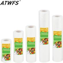 ATWFS Vacuum Bag Food Vacuum Sealer Packing Bag Vacuum Packer Storage Bags Food Fresh Long Keeping 12/17/20/25/28cm*500cm 1 Roll