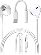 4smarts Melody In-Ear Headset med USB-C Audio Adapter - Hvid