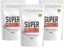Super Guarana Powder - Førsteklasses Organisk Oppkvikkende Fruktpulver Fra Amazonas - 100g - 3-pakni