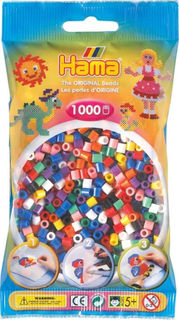 HAMA Perler til perleplade Hama Midi Basic Mix 1000 stk