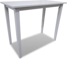 vidaXL Puinen baaripöytä Valkoinen