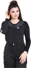 Hell Bunny - Spider Cardigan -Cardigan - svart
