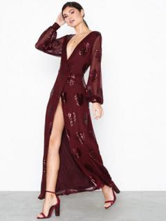 Vila Vicher L/S Maxi Dress/Vta Maxikjoler