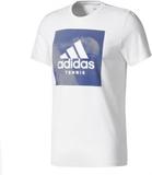 Adidas - Category men's tennis top (white/grey) -