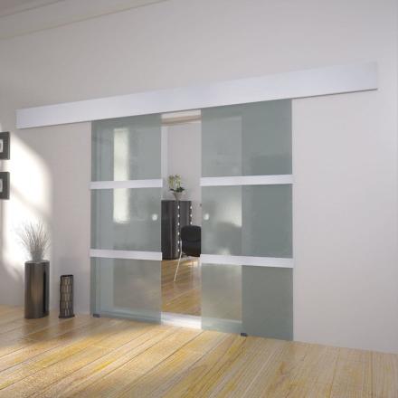 vidaXL Dubbla skjutdörrar glas