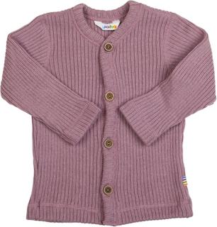Joha rib strikket uld cardigan rosa