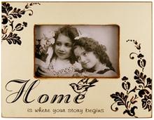 Fotoramme med citat - HOME