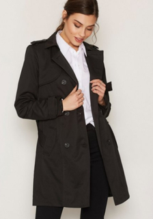 Vila Vithree Long Trenchcoat-Noos Trenchcoats Svart