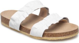 Sandals - Flat - Open Toe - Op Flate Sandaler Hvit ANGULUS