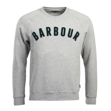 Barbour Men's Prep Logo Crew Herr Tröja Grå XXL