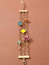 Armband färgglada kristaller från Uta Raasch guld
