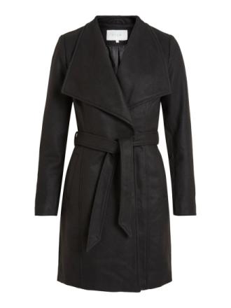 VILA Wool Coat Women Black
