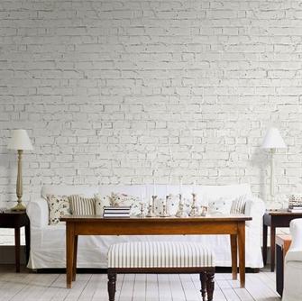 Fototapet Hvide mursten