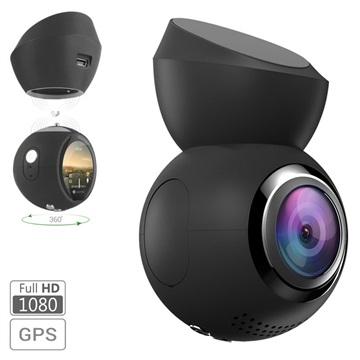 Navitel R1000 Magnetisk DVR Dashcam med GPS-funktion - Sort